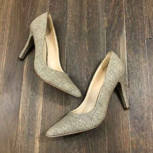 Nine West Tan White Pointed Heels size 7.5